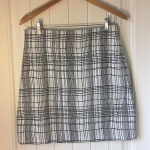 LOFT cross hatch weave skirt